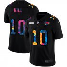 Cheap Kansas City Chiefs #10 Tyreek Hill Men's Nike Multi-Color Black 2020 NFL Crucial Catch Vapor Untouchable Limited Jersey