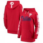 Cheap Philadelphia Phillies G-III 4Her by Carl Banks Women's Extra Innings Pullover Hoodie Red