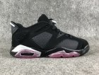 Cheap Air Jordan 6 GS Low Sun Blush Black/White-Pink