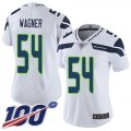 Cheap Nike Seahawks #54 Bobby Wagner White Women's Stitched NFL 100th Season Vapor Limited Jersey