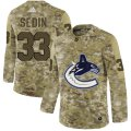 Cheap Adidas Canucks #33 Henrik Sedin Camo Authentic Stitched NHL Jersey