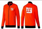 Cheap NFL New York Giants Team Logo Jacket Orange
