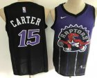 Cheap Men's Toronto Raptors #15 Vince Carter Purple with Black Salute Nike Swingman Stitched NBA Jersey