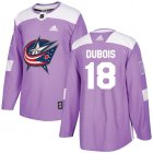 Cheap Adidas Blue Jackets #18 Pierre-Luc Dubois Purple Authentic Fights Cancer Stitched Youth NHL Jersey