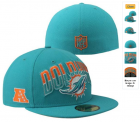 Cheap Miami Dolphins fitted hats 05