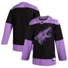 Cheap Arizona Coyotes Adidas Hockey Fights Cancer Practice Jersey Black