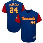 Cheap Team Venezuela #24 Miguel Cabrera Royal 2017 World MLB Classic Authentic Stitched MLB Jersey