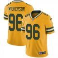 Cheap Nike Packers #96 Muhammad Wilkerson Yellow Youth Stitched NFL Limited Rush Jersey