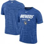 Cheap Milwaukee Brewers Nike Authentic Collection Velocity Team Issue Performance T-Shirt Royal