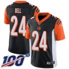 Cheap Nike Bengals #24 Vonn Bell Black Team Color Youth Stitched NFL 100th Season Vapor Untouchable Limited Jersey