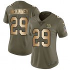 Cheap Nike Giants #29 Xavier McKinney Olive/Gold Women's Stitched NFL Limited 2017 Salute To Service Jersey