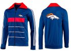 Cheap NFL Denver Broncos Team Logo Jacket Blue_5