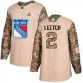 Cheap Adidas Rangers #2 Brian Leetch Camo Authentic 2017 Veterans Day Stitched NHL Jersey