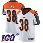 Cheap Nike Bengals #38 LeShaun Sims White Youth Stitched NFL 100th Season Vapor Untouchable Limited Jersey