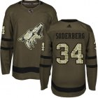 Cheap Adidas Coyotes #34 Carl Soderberg Green Salute to Service Stitched NHL Jersey