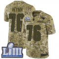 Cheap Nike Patriots #76 Isaiah Wynn Camo Super Bowl LIII Bound Men's Stitched NFL Limited 2018 Salute To Service Jersey