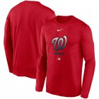 Cheap Men's Washington Nationals Nike Red Authentic Collection Legend Performance Long Sleeve T-Shirt
