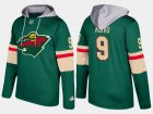 Cheap Wild #9 Mikko Koivu Green Name And Number Hoodie