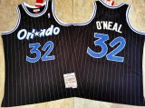 Cheap Orlando Magic #32 Shaquille O'neal 1994-95 Black Hardwood Classics Soul AU Throwback Jersey