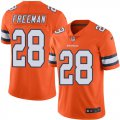 Cheap Nike Broncos #28 Royce Freeman Orange Men's Stitched NFL Limited Rush Jersey