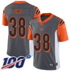 Cheap Nike Bengals #38 LeShaun Sims Silver Youth Stitched NFL Limited Inverted Legend 100th Season Jersey