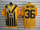 Cheap Nike Steelers #36 Jerome Bettis Gold 1933s Throwback Men's Embroidered NFL Elite Jersey