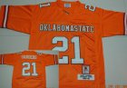 Cheap Oklahoma State Cowboys #21 Barry Sanders Orange Throwback Jersey