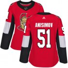 Cheap Adidas Senators #51 Artem Anisimov Red Home Authentic Women's Stitched NHL Jersey