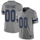 Cheap Nike Dallas Cowboys Customized Gray Men's Stitched NFL Limited Inverted Legend Jersey