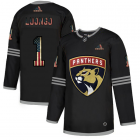 Cheap Florida Panthers #1 Roberto Luongo Adidas Men's Black USA Flag Limited NHL Jersey
