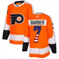 Cheap Adidas Flyers #7 Bill Barber Orange Home Authentic USA Flag Stitched Youth NHL Jersey