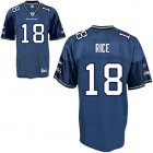 Cheap Seahawks #18 Sidney Rice Blue Stitched NFL Jersey