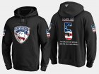 Cheap Panthers #5 Aaron Ekblad NHL Banner Wave Usa Flag Black Hoodie