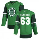 Cheap Boston Bruins #63 Brad Marchand Men's Adidas 2020 St. Patrick's Day Stitched NHL Jersey Green.jpg