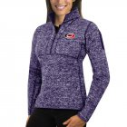 Cheap Carolina Hurricanes Antigua Women's Fortune 1/2-Zip Pullover Sweater Purple