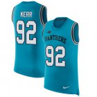 Cheap Nike Panthers #92 Zach Kerr Blue Alternate Men's Stitched NFL Limited Rush Tank Top Jersey