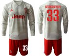Cheap Juventus #33 Bernardeschi Away Long Sleeves Soccer Club Jersey