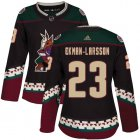 Cheap Adidas Coyotes #23 Oliver Ekman-Larsson Black Alternate Authentic Women's Stitched NHL Jersey