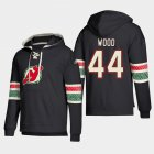Cheap New Jersey Devils #44 Miles Wood Black adidas Lace-Up Pullover Hoodie