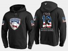 Cheap Panthers #13 Mark Pysyk NHL Banner Wave Usa Flag Black Hoodie