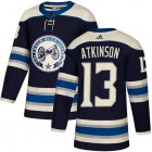 Cheap Adidas Blue Jackets #13 Cam Atkinson Navy Alternate Authentic Stitched Youth NHL Jersey