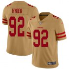 Cheap Nike 49ers #92 Kerry Hyder Gold Youth Stitched NFL Limited Inverted Legend Jersey