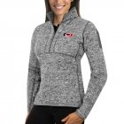 Cheap Carolina Hurricanes Antigua Women's Fortune 1/2-Zip Pullover Sweater Black