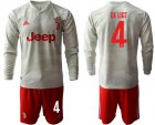 Cheap Juventus #4 De Ligt Away Long Sleeves Soccer Club Jersey