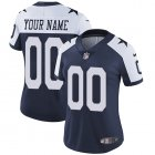 Cheap Nike Dallas Cowboys Customized Navy Blue Thanksgiving Stitched Vapor Untouchable Limited Throwback Women's NFL Jersey