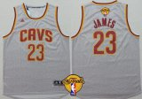 Cheap Men's Cleveland Cavaliers #23 LeBron James 2016 The NBA Finals Patch Gray Jersey