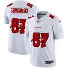 Cheap Tampa Bay Buccaneers #87 Rob Gronkowski White Men's Nike Team Logo Dual Overlap Limited NFL Jersey