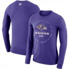 Cheap Baltimore Ravens Nike Property Of Sideline Performance Long Sleeve T-Shirt Purple
