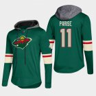 Cheap Wild #11 Zach Parise Green 2018 Pullover Platinum Hoodie
