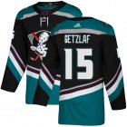 Cheap Adidas Ducks #15 Ryan Getzlaf Black/Teal Alternate Authentic Youth Stitched NHL Jersey